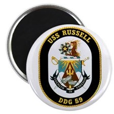 """USS Russell 2.25"""" Magnet (100 pack)"""