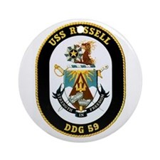 USS Russell Ornament (Round)