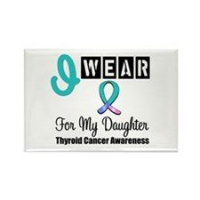 Thyroid Cancer Ribbon Rectangle Magnet (10 pack)