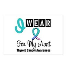 Thyroid Cancer Ribbon Postcards (Package of 8)