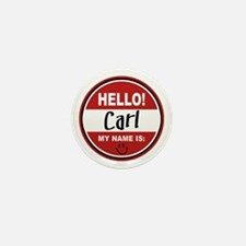 Hello My Name is Carl Mini Button