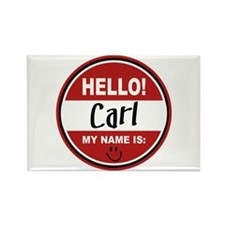 Hello My Name is Carl Rectangle Magnet