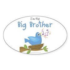 Songbird Big Brother Oval Decal