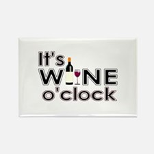 It's Wine O'Clock Rectangle Magnet