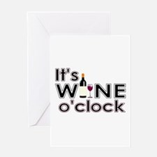 It's Wine O'Clock Greeting Card