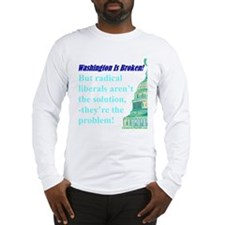 """""""DumpThe Liberals"""" Long Sleeve T-Shirt"""