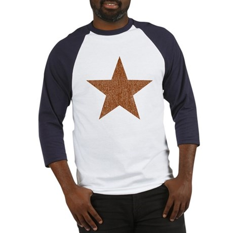 Distressed Red Star Baseball Jersey