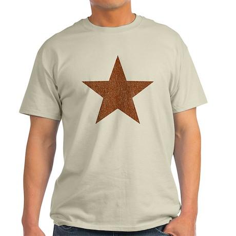 Distressed Red Star Light T-Shirt