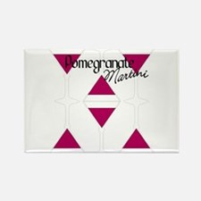 Pomegranate Martini Rectangle Magnet