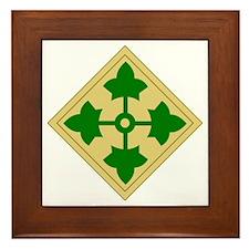 4th Infantry Division (1) Framed Tile