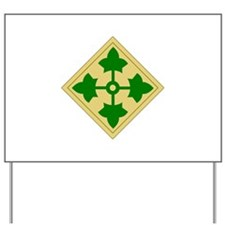 4th Infantry Division (1) Yard Sign