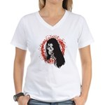 Ring of Death Skull Women's V-Neck T-Shirt