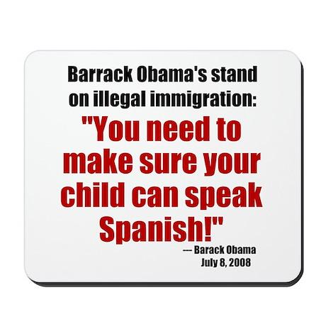 Obama Spanish Mousepad