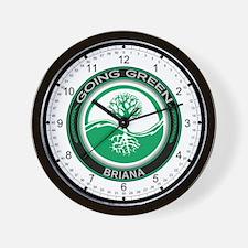 Going Green Tree, Briana Wall Clock