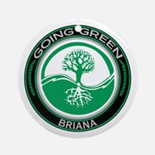 Going Green Tree, Briana Ornament (Round)