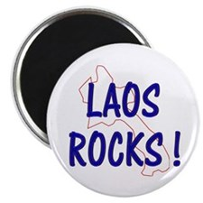 Laos Rocks ! Magnet