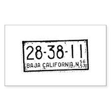 Baja License Rectangle Bumper Stickers