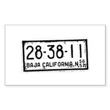 Baja License Rectangle Decal