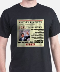 born in 1981 birthday gift T-Shirt