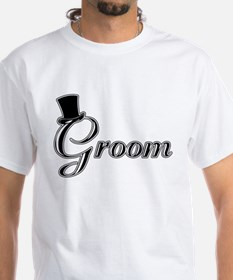 Groom with Jaunty Top Hat Shirt