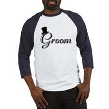 Groom with Jaunty Top Hat Baseball Jersey