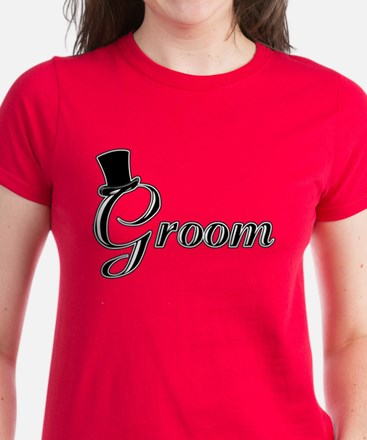 Groom with Jaunty Top Hat Tee