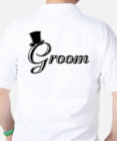 Groom with Jaunty Top Hat Golf Shirt