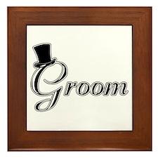 Groom with Jaunty Top Hat Framed Tile