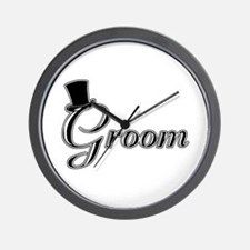 Groom with Jaunty Top Hat Wall Clock