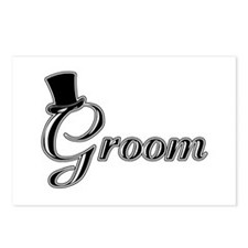 Groom with Jaunty Top Hat Postcards (Package of 8)
