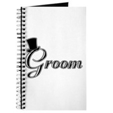 Groom with Jaunty Top Hat Journal