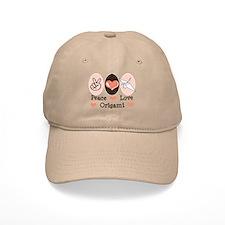 Peace Love Origami Crane Baseball Cap