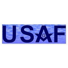 Masonic USAF Bumper Bumper Sticker