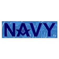 Masonic US Navy Bumper Bumper Sticker