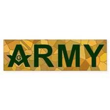 Masonic US Army Bumper Bumper Sticker