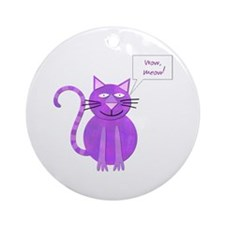 Wow Meow Ornament (Round)