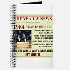 born in 1984 birthday gift Journal