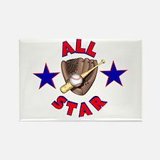 Baseball All Star Rectangle Magnet