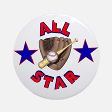 Baseball All Star Ornament (Round)