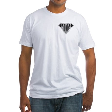 Supermom(metal) Fitted T-Shirt