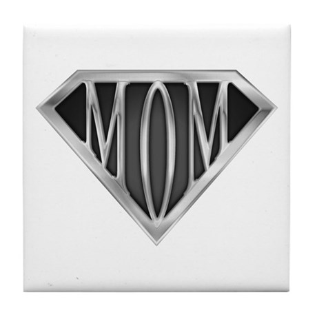Supermom(metal) Tile Coaster
