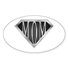 Supermom(metal) Oval Decal