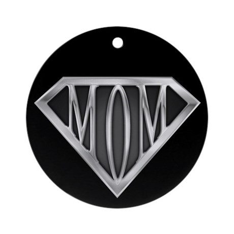 Supermom(metal) Ornament (Round)