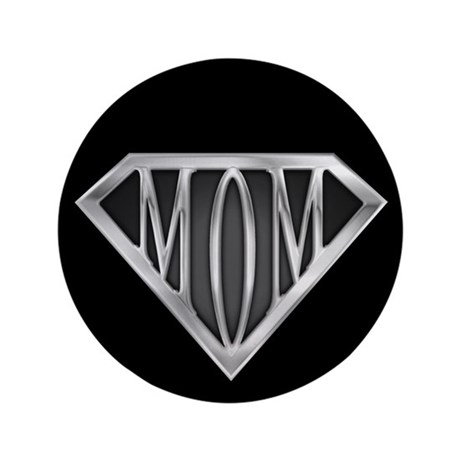 "Supermom(metal) 3.5"" Button"