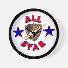 Baseball All Star Wall Clock