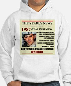 born in 1987 birthday gift Hoodie