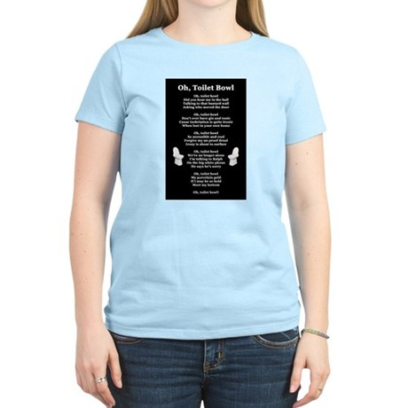 """Oh, Toilet Bowl"" Women's Color Tee"