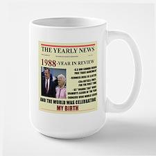 born in 1988 birthday gift Large Mug