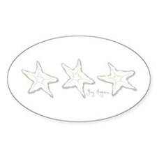 Starfish Oval Decal