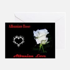 Albanian Rose Greeting Card